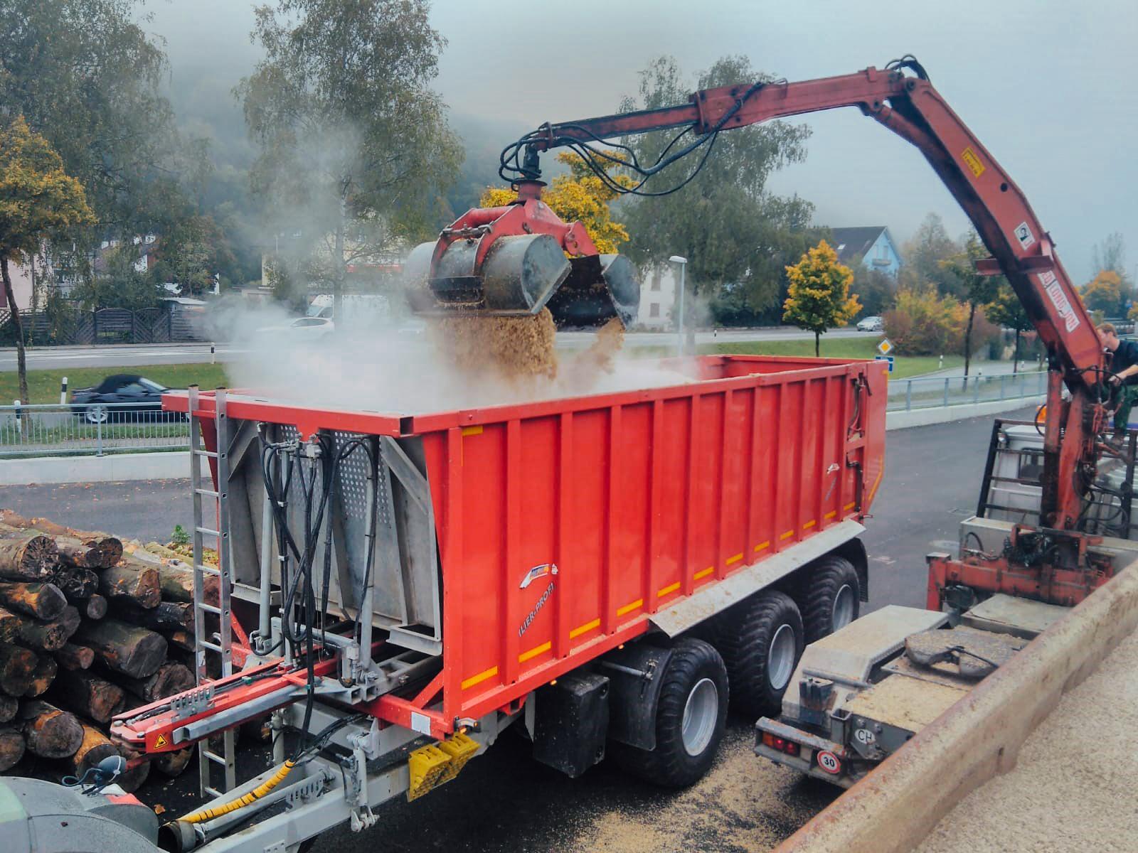 Zuckerrübenschnitzel Transport 01